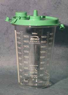 Suction Canister/s1160a Plastic Canister 2000 Cc